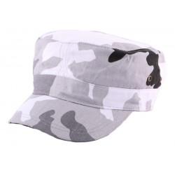 Casquette Army Camouflage Gris et Blanc CASQUETTES Nyls Création